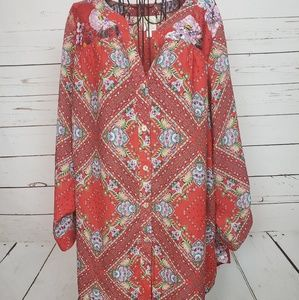 Anthropologie Tops - Fig and Flower Plus Size Button Down Top